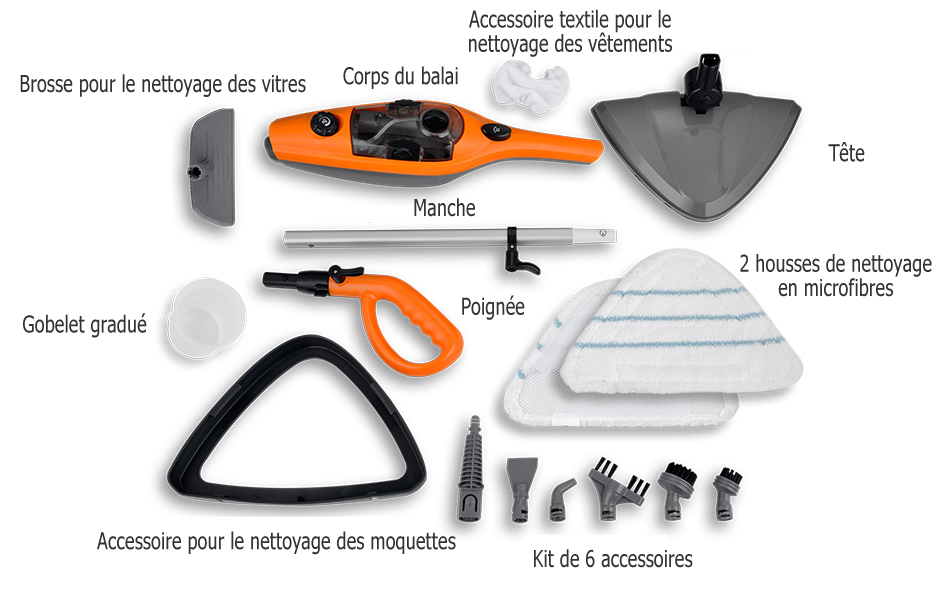 accessoires pour balai vapeur