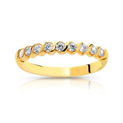 alliance femme or jaune et diamant