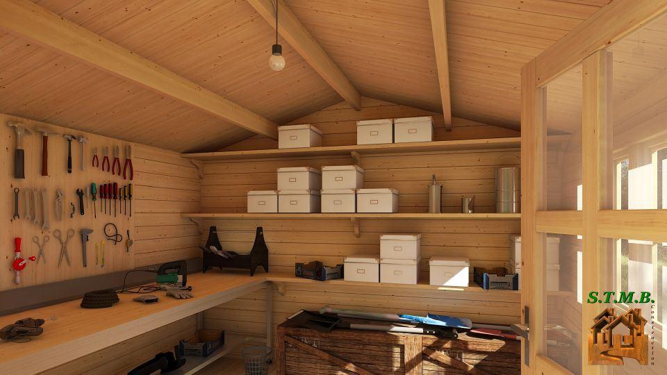 aménagement cabane de jardin