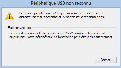asus port usb ne fonctionne plus