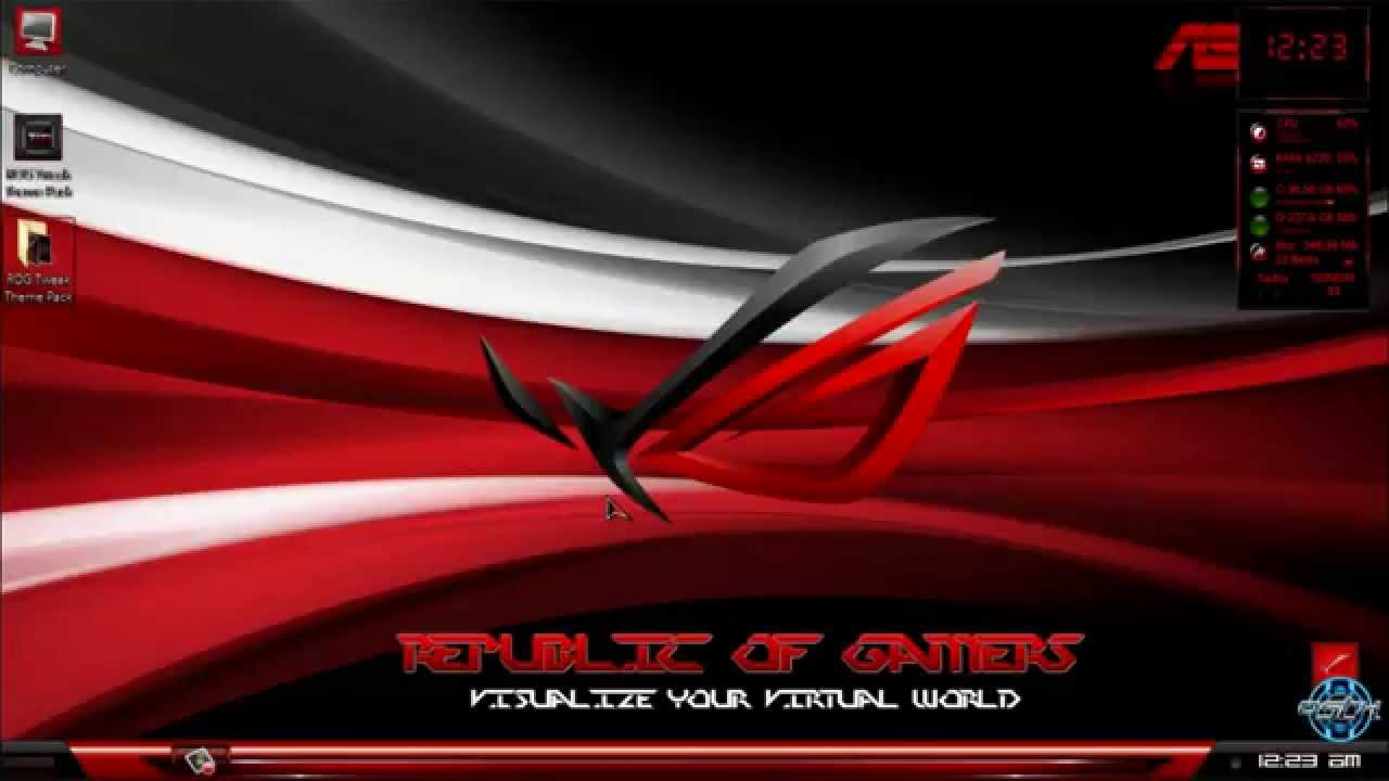 asus rog windows 7