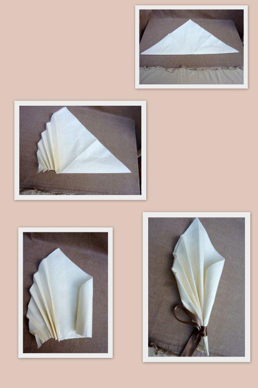 art de plier les serviettes