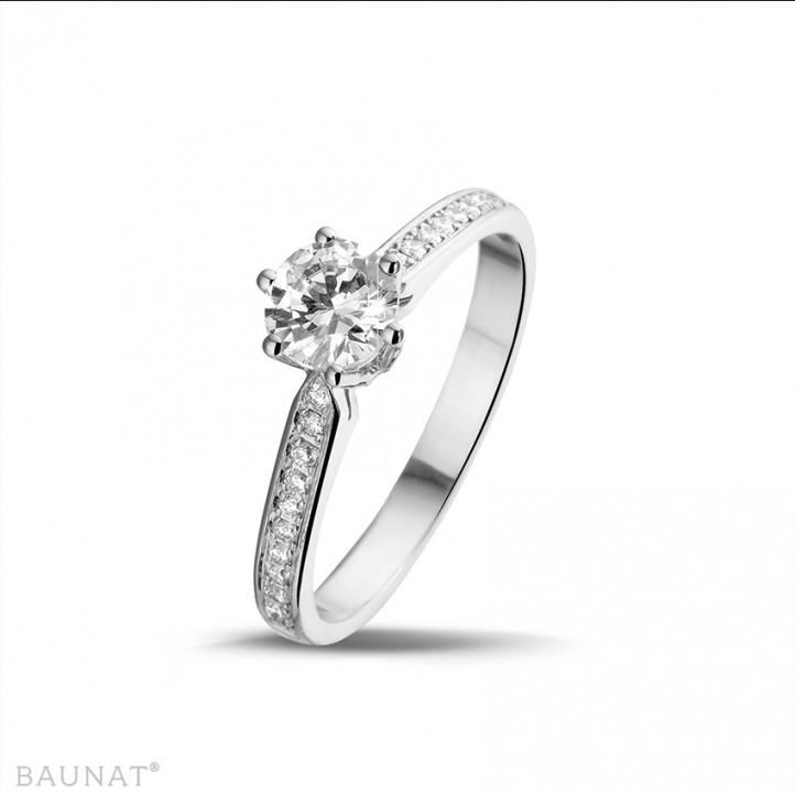 bague de fiancaille solitaire diamant or blanc
