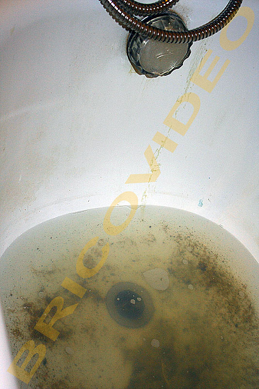baignoire bouchee