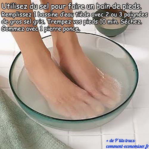 bain de pied maison sel