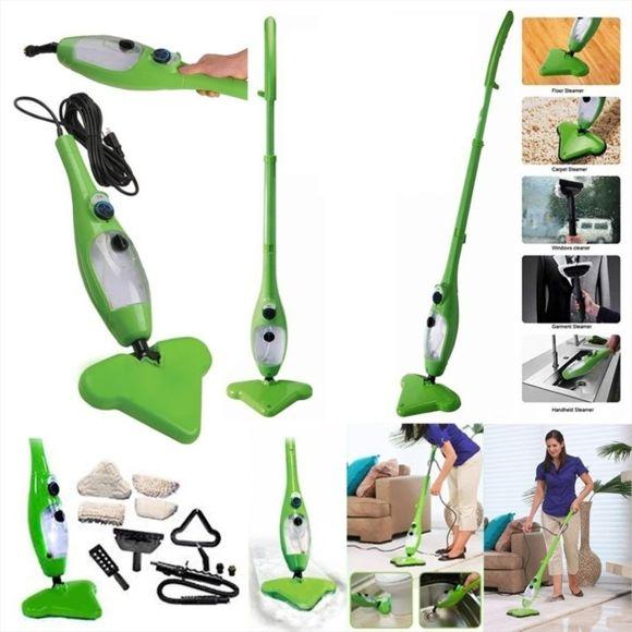 balai vapeur mop vert 5 en 1