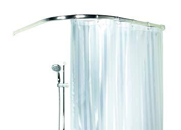 barre arrondie pour rideau de douche