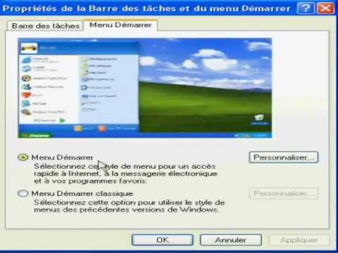 barre des taches windows xp