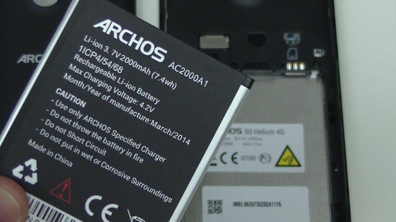 batterie archos 45 helium