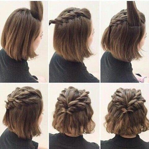belle coiffure cheveux court