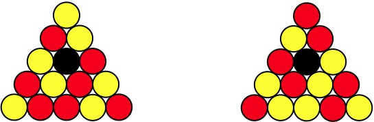 billard jaune et rouge