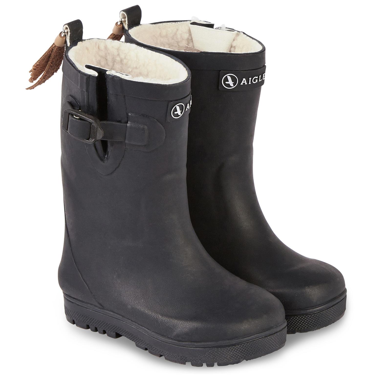bottes pluie fourrées