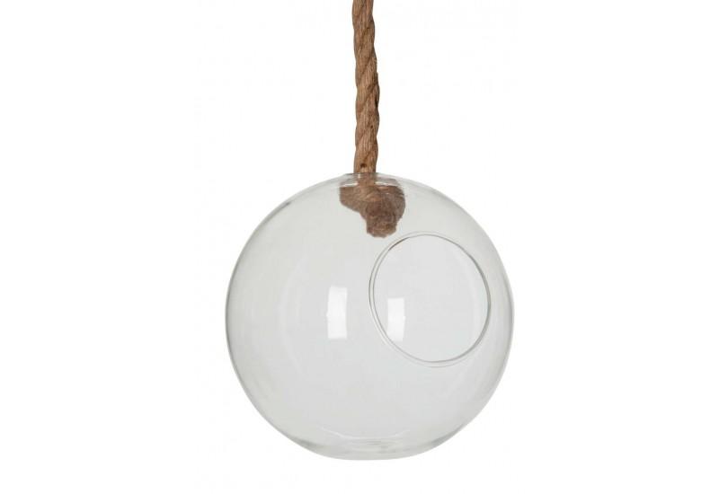 boule verre suspendu