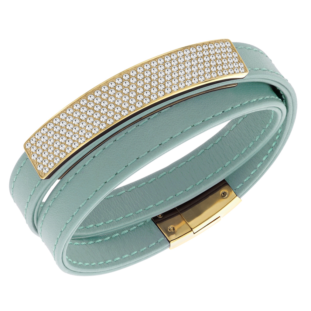 bracelet cuir swarovski femme