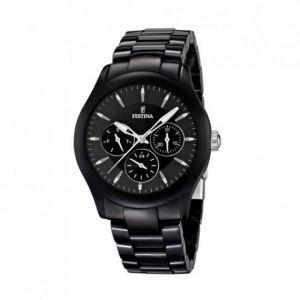 bracelet montre ceramique noir