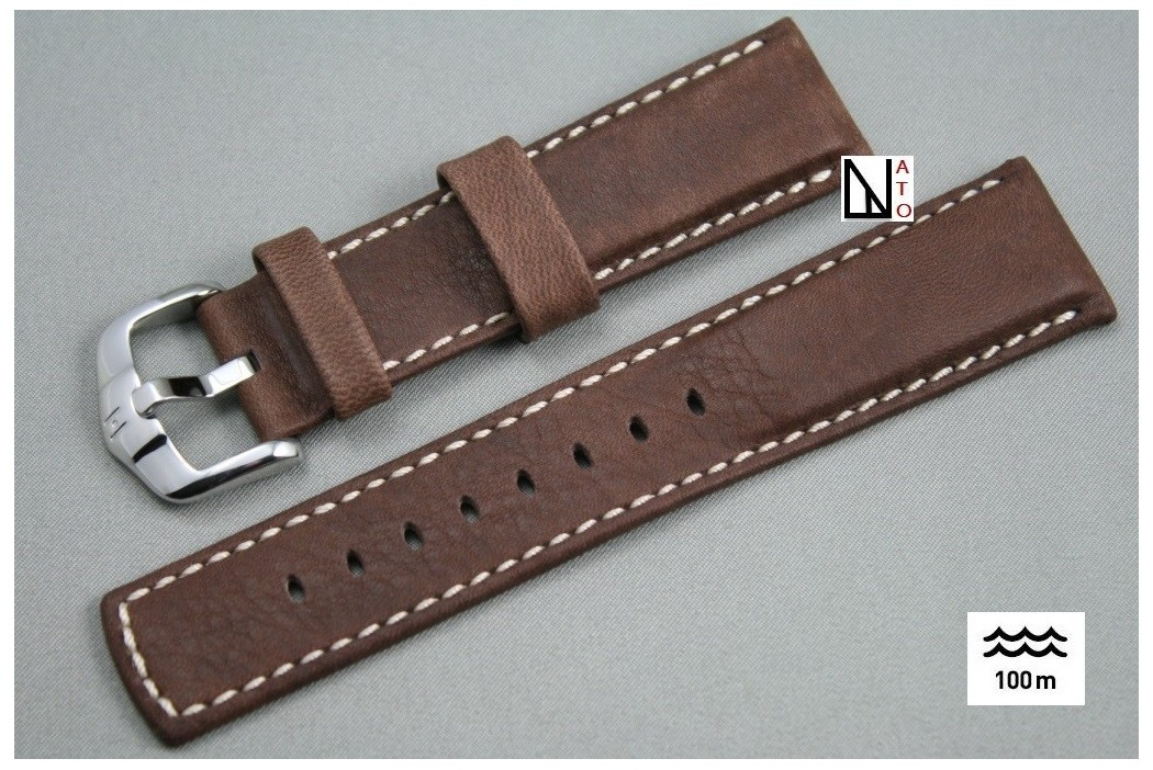 bracelet montre cuir