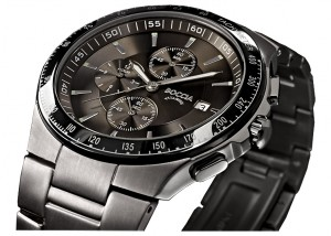 bracelet montre titane noir
