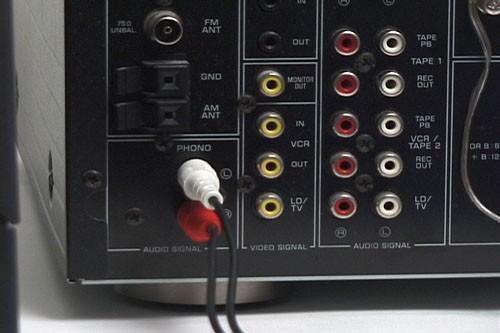 branchement platine vinyle sur ampli