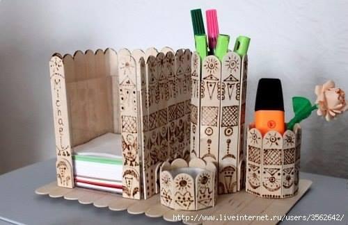 bricolage batonnets bois