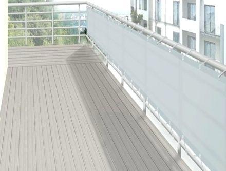 brise vue blanc balcon