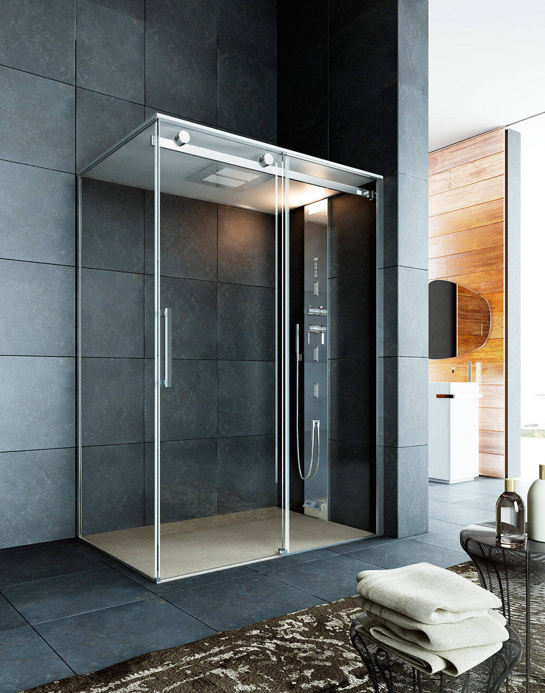 cabine douche multifonction