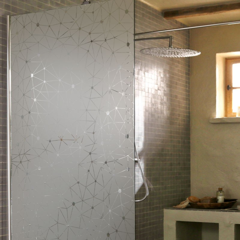 cache vitre douche