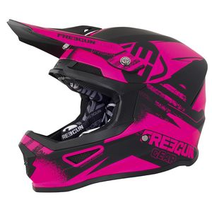 casque moto cross rose
