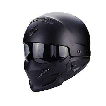 casque noir mat moto