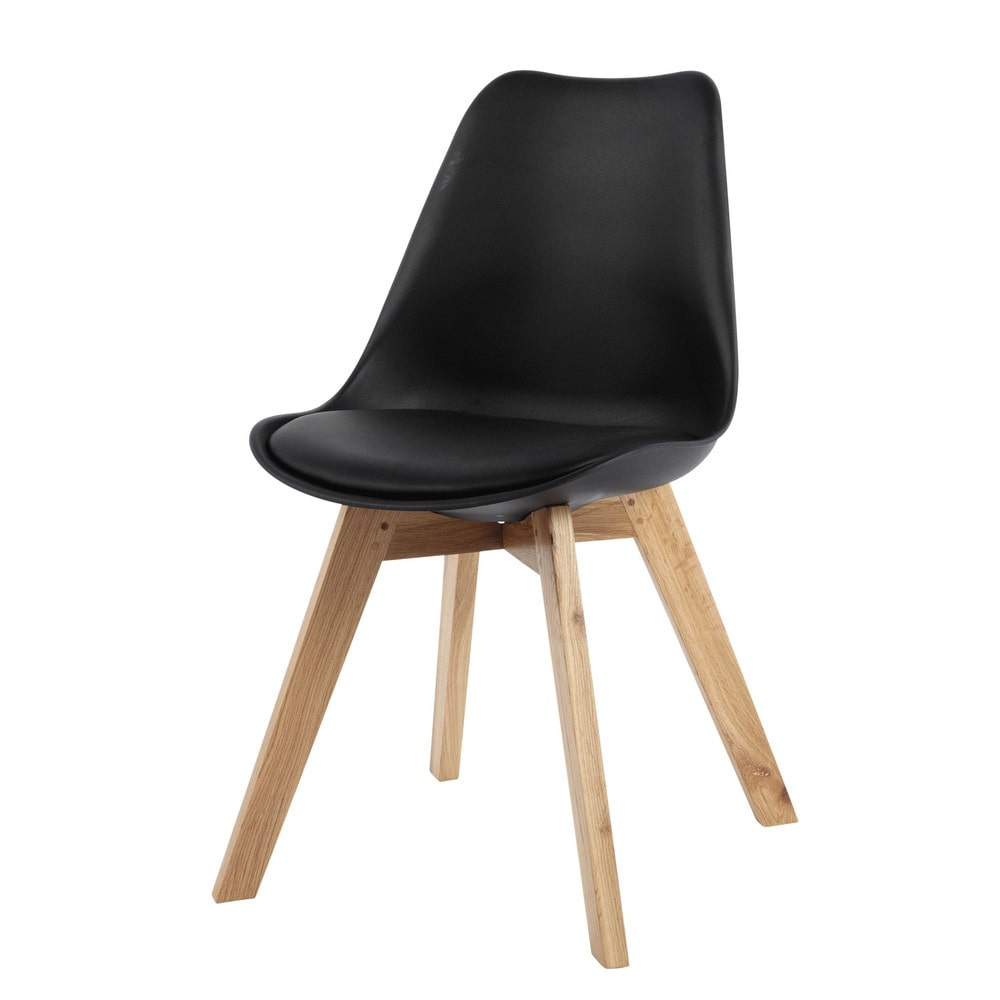 chaise noir scandinave