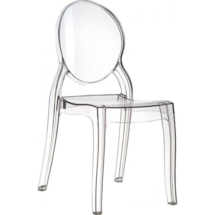 chaises elizabeth transparente