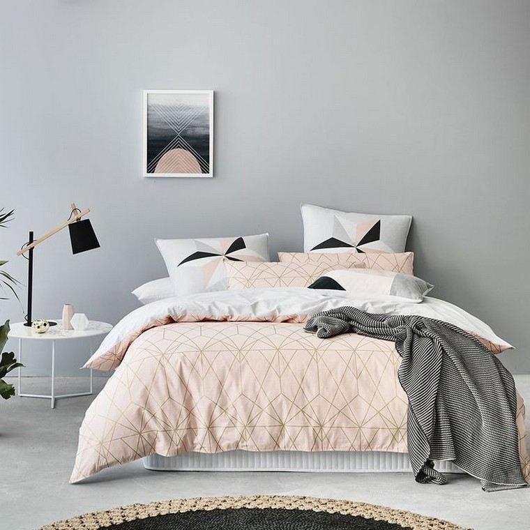 chambre gris et rose