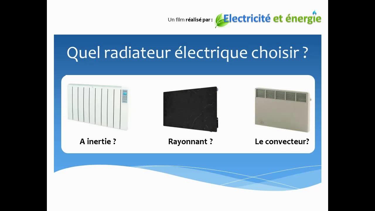 chauffage electrique que choisir