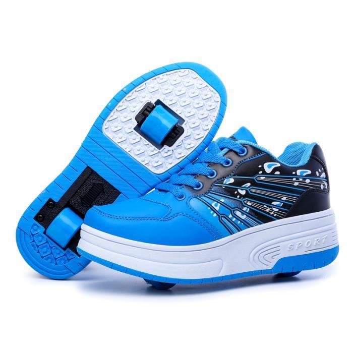 chaussures à 2 roulettes
