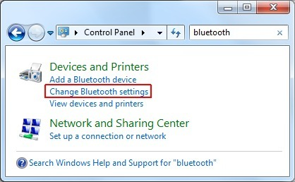 clé bluetooth windows 7