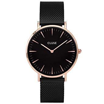 cluse montre femme noire