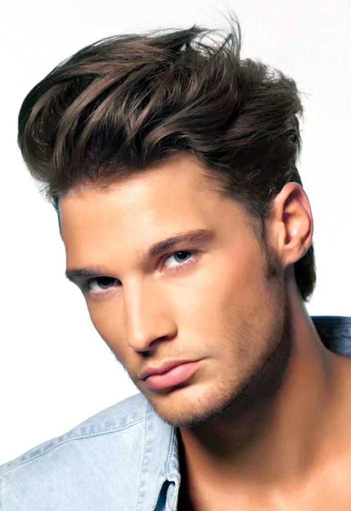 coiffer des cheveux épais homme