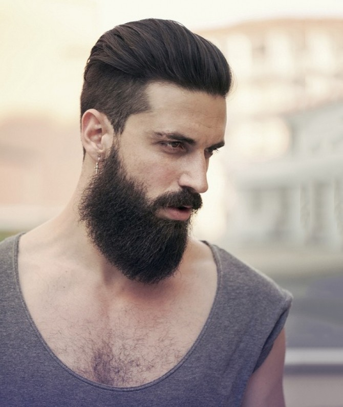 coiffure homme barbu