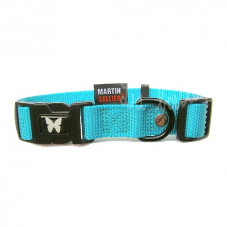 collier chien bleu