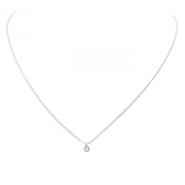 collier or blanc
