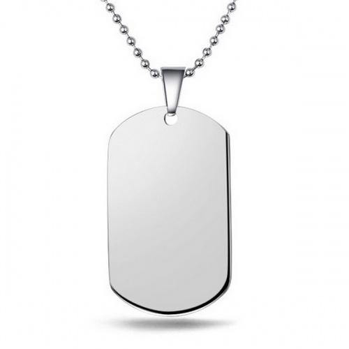 collier plaque militaire homme