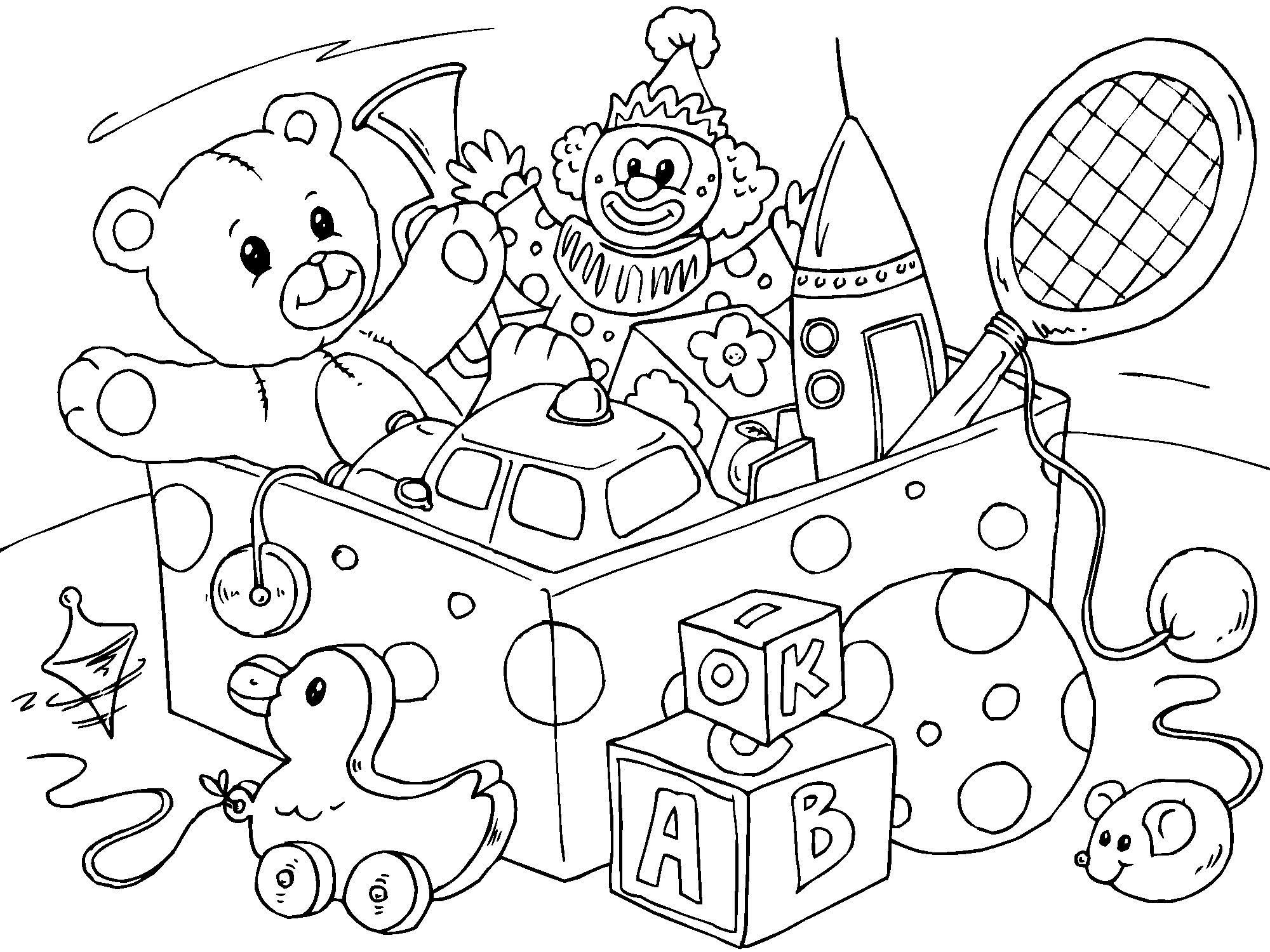 coloriage jouet
